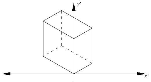 Block in 2D coordinate system (isometric).