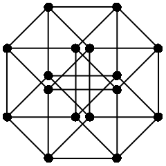 4-cube, showing verticies and edges.