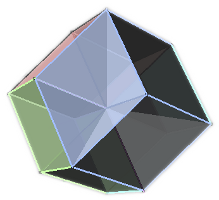Tesseract with             cells highlighted